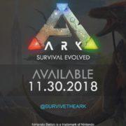 Switch版『ARK: Survival Evolved』の発売日が2018年11月30日に決定!