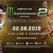 モトクロスレースゲーム『Monster Energy Supercross – The Official Videogame 2』がPS4&Xbox One&Switch&PC向けとして2019年2月8日に海外発売決定!
