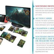『Malkyrs – The interactive card game』のSwitch版が開発決定!カスタマイズ可能な物理カードを搭載したバーチャルトレーディングカードゲーム