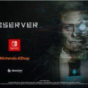 Switch版『>observer_』の発売日が2019年2月7日に決定!サイバーパンク・ホラーアドベンチャー