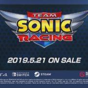 『チームソニックレーシング』の発売日が2019年5月21日に決定!公式サイトリニューアルオープン