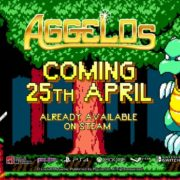 PS4&Switch&XboxOne版『Aggelos』の海外配信日が2019年4月25日に決定!「ワンダーボーイ」から影響を受けた2Dアクション