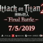 PS4&Switch&Xbox One&PC用ソフト『Attack on Titan 2: Final Battle』が2019年7月に発売決定!