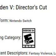 Switch版『雷電V Director's Cut』がESRBのリストに掲載される!