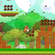 Switch版『Let's Go Nuts』が海外向けとして2019年7月17日に配信決定!最大4人で遊べるパーティープラットフォームゲーム