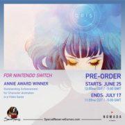 Switch版『GRIS』のパッケージ版が海外向けとして発売決定!6月25日から予約が開始