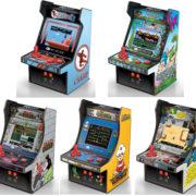 手のひらサイズのミニチュア筐体風ゲーム機「レトロアーケード」シリーズより『空手道』『JOE&MAC 戦え原始人』『ドラゴンニンジャ』『バーガータイム』『ヘビーバレル』が2019年8月に発売決定!