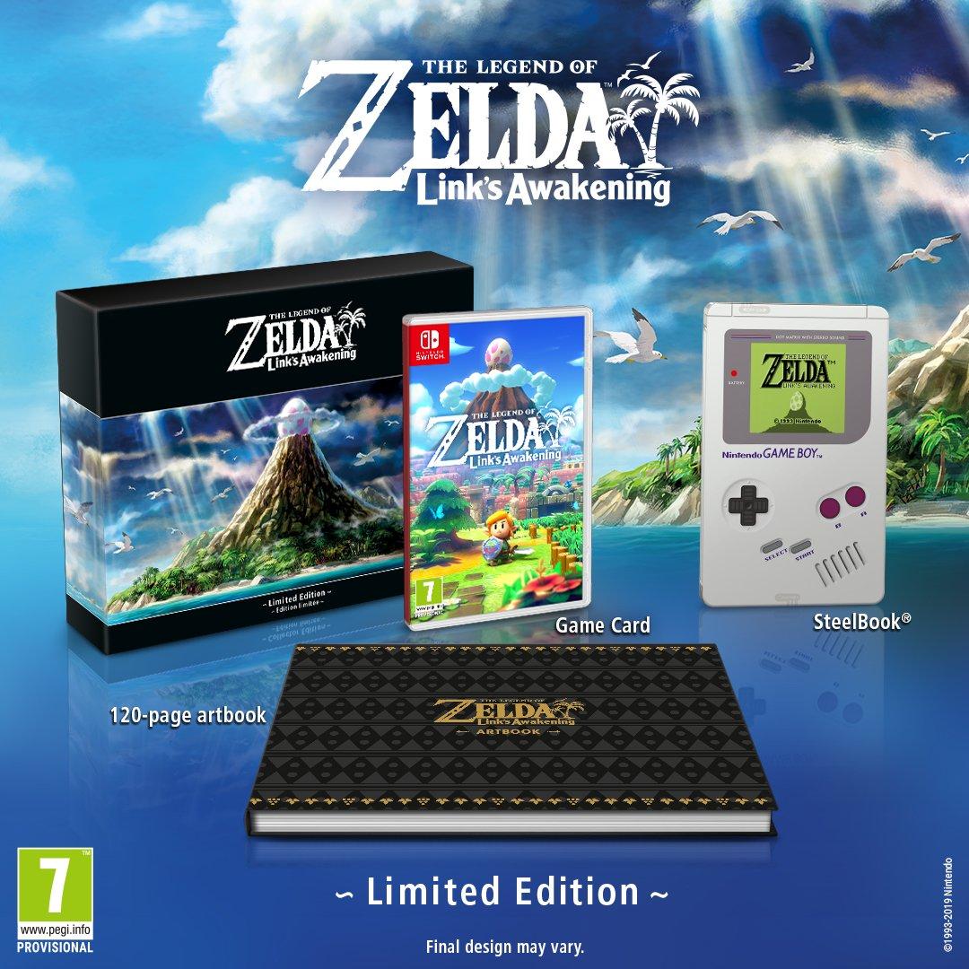 Switch版『ゼルダの伝説 夢をみる島』のLimited Edition版が
