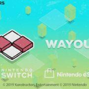 Switch版『Wayout』の海外配信日が2019年7月11日に決定!美しく挑戦的なグリッドベースのパズルゲーム