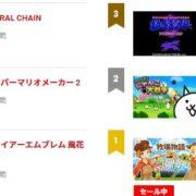 【日本】2019年7月11日~7月17日のSwitch eショップの売れ筋ランキングが公開!
