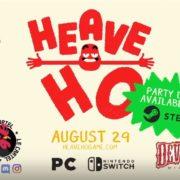 【更新】Switch&PC用ソフト『Heave Ho』の発売日が2019年8月29日に決定!最大4人で遊べる協力型ゲーム