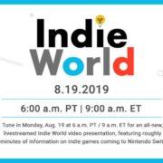 インディーゲームを紹介する番組「Indie World Presentation 8.19.2019」が8月19日に放送決定!