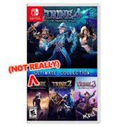 『Trine: Ultimate Collection』のカードリッジには「Trine4」のみが含まれ「1~3」はデジタルダウンロードになる!