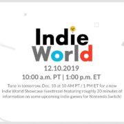 インディーゲームを紹介する番組「Indie World Showcase – 12.10.2019」が海外向けとして12月11日に放送決定!