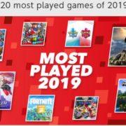 Nintendo Of Europeが2019年に最もよくプレイされたSwitch用ゲームのトップ20を共有!