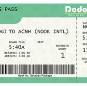【ファンメイド】『あつまれ どうぶつの森』の「搭乗券」ジェネレーターが公開!