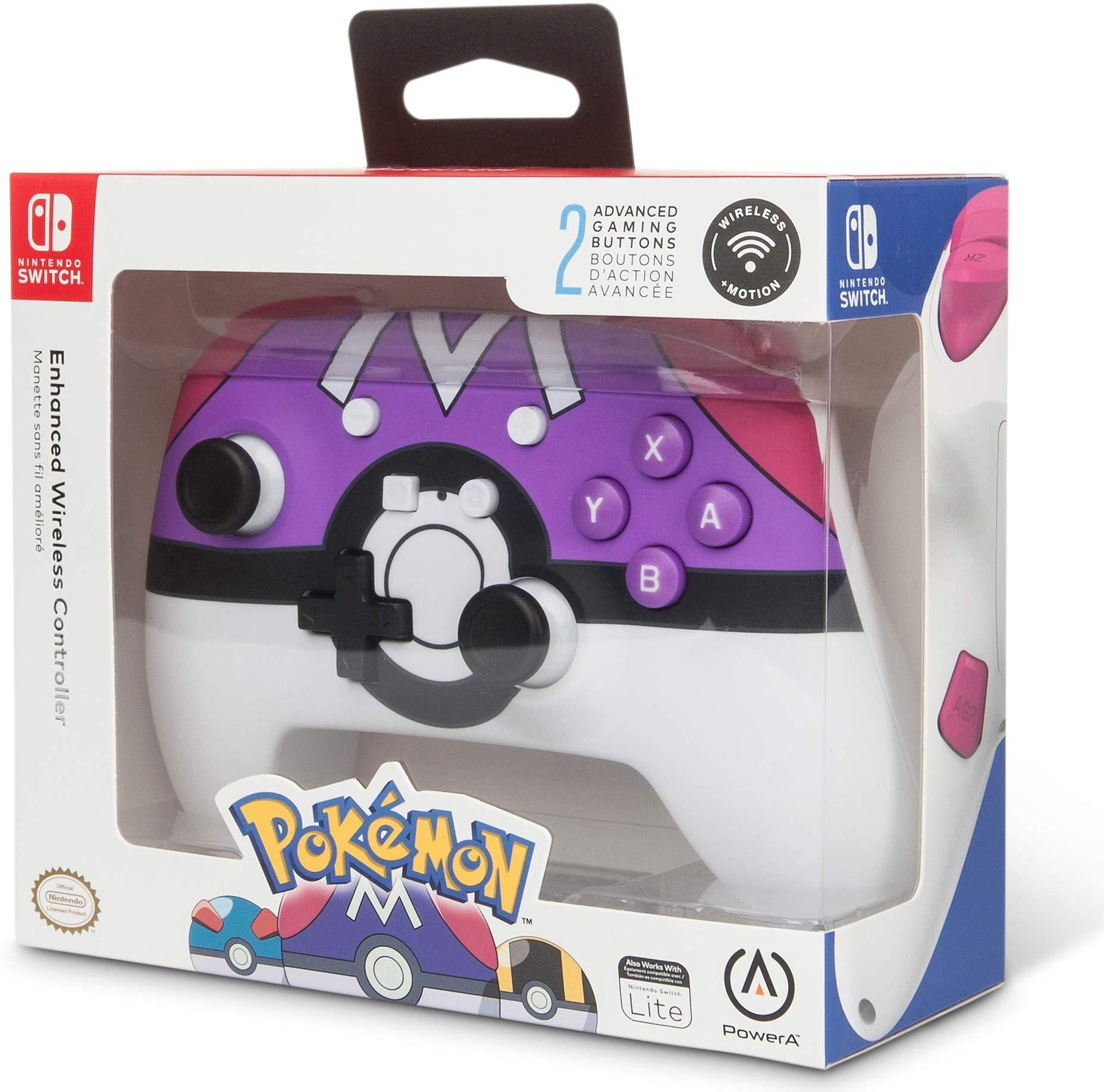 PowerAから『ポケモン』より「マスターボール」デザインの新しい『Nintendo Switch ワイヤレスコントローラー』が海外向けとして発売決定!