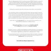 米国の任天堂公式ショップNintendo NYが「新型コロナウイルス」の感染拡大予防対策を発表!