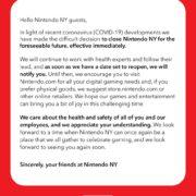 米国の任天堂公式ショップNintendo NYが「新型コロナウイルス」の感染拡大を踏まえて閉鎖することを発表!