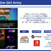 Switch版『Keen – One Girl Army』の国内発売日が2020年7月2日に決定!