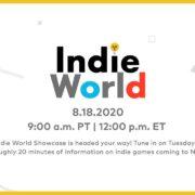 インディーゲームを紹介する番組「Indie World Showcase 8.18.2020」が海外向けとして8月19日に放送決定!