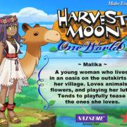 PS4&Switch用ソフト『Harvest Moon: One World』の結婚候補者「Malika」のイラストが公開!