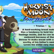 PS4&Switch用ソフト『Harvest Moon: One World』の結婚候補者「Tristan」のイラストが公開!
