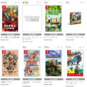 【TSUTAYA ゲームランキング】2020年11月23日~11月29日のランキングが公開!