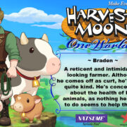 PS4&Switch用ソフト『Harvest Moon: One World』の結婚候補者「Braden」のイラストが公開!
