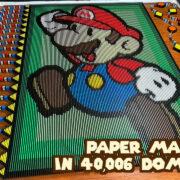 40,006個のドミノを使った『ペーパーマリオ』ドミノがYouTubeで公開!